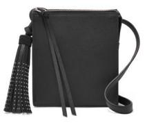 Sara stud-embellished textured-leather shoulder bag