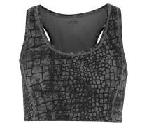 Venus Printed Stretch-jersey Bra Top Grau