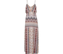Gen layered printed stretch-modal maxi dress