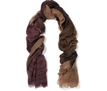 Fringed Cashmere Scarf Plaume