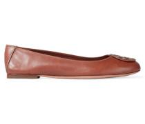 Reva Leather Ballet Flats Braun