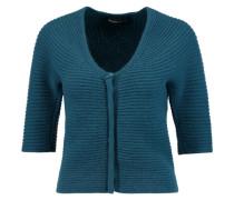 Ribbed Wool And Angora-blend Cardigan Petrol