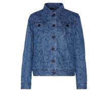 Printed Denim Jacket Mittelblauer Denim