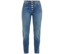 Debbie Cropped High-rise Skinny Jeans