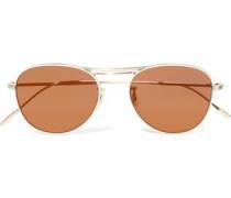 Cade Aviator-style Gold-tone Sunglasses Copper Size --