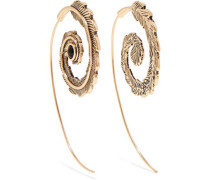 Gold-tone bead earrings