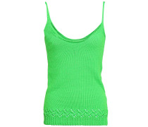Crochet-trimmed Knitted Tank