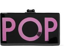 Jean Pop Acrylic Box Clutch