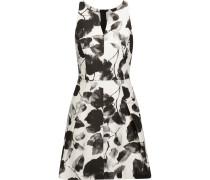 Floral-print Cotton-blend Twill Mini Dress Wollweiß