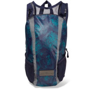 Printed shell and mesh backpack