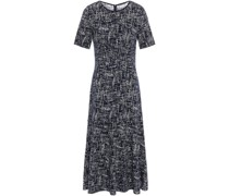 Jacquard-knit Midi Dress