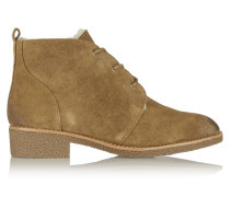 Perseys Shearling-lined Suede Lace-up Boots Braun