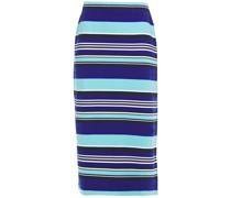 Striped Organic Cotton-blend Ponte Pencil Skirt