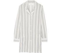 The Britt striped basketweave cotton shirt