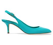 Vernice Patent-leather Slingback Sandals Türkis