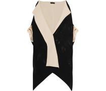 Canvas And Wool-blend Jacquard Kimono Jacket Schwarz