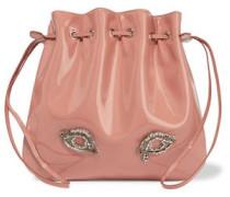 Tilda medium embellished patent-leather shoulder bag