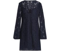 Spa Day cotton-blend lace mini dress