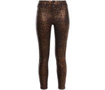 Margot Cropped Leopard-print High-rise Skinny Jeans