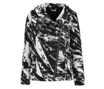 Tera printed stretch-jersey jacket