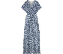 Ruffled Printed Georgette Maxi Dress