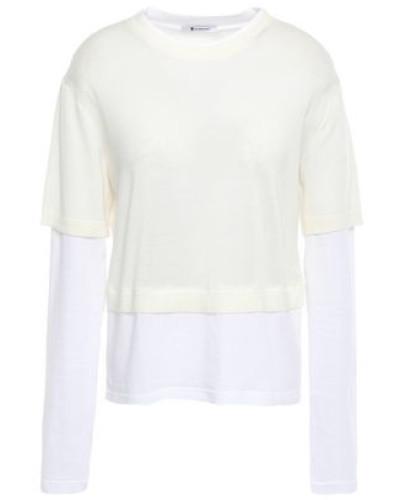 Layered Merino Wool And Cotton-blend Sweater Ivory