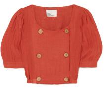 Diana Cropped Linen-blend Top