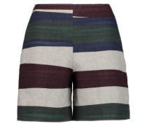 Printed Wool-blend Felt Shorts Mehrfarbig