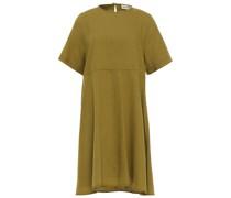 Minikleid aus Twill aus Einer Baumwoll-wollmischung