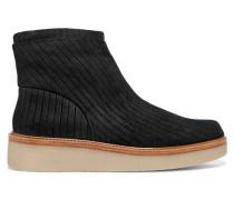 Kimmie Nubuck Ankle Boots Schwarz