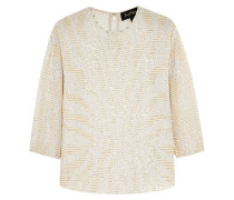 Embellished Silk-chiffon Top Weiß