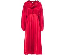 Ancona Ruffled Silk-satin Midi Dress