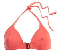 Edge Cut Buckled Triangle Bikini Top