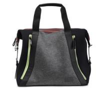 Leather-trimmed Paneled Neoprene Weekend Bag Black Size --