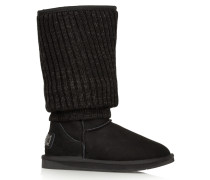 Fame Tall Shearling Boots Schwarz