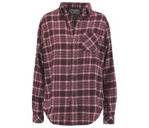 The Prep School Plaid Cotton Shirt Burgunder