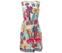 Gathered Guipure Lace Mini Dress