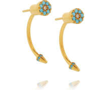 Eye Sting Gold-plated Cubic Zirconia Earrings