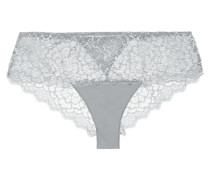 Caresse Stretch-lace And Jersey Briefs Stein