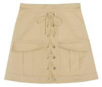 Stretch-cotton twill mini skirt