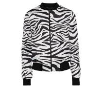 Lonnie Reversible Zebra-print Satin Bomber Jacket