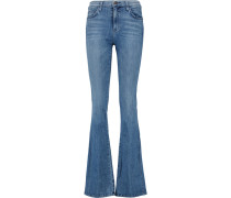 The Low Bell High-rise Flared Jeans Mittelblauer Denim