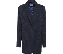 Alfie Pinstriped Stretch-wool Blazer