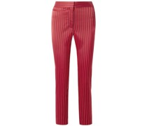 Liv Pinstriped Satin Slim-leg Pants