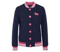 Embellished cotton-blend bomber jacket