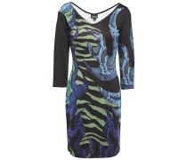 Printed Stretch-jersey Mini Dress