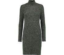Turtleneck Jersey Mini Dress Dunkelgrau