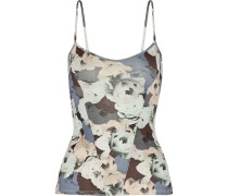 Floral-print Stretch-supplex® Tank Grau