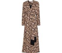 Josephine Belted Printed Crepe Midi Dress