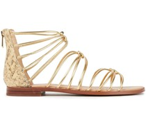 Emi Metallic And Snake-effect Leather Sandals